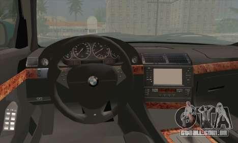 BMW 7-series para GTA San Andreas traseira esquerda vista
