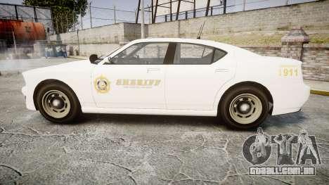 GTA V Bravado Buffalo LS Sheriff White [ELS] Sli para GTA 4 esquerda vista