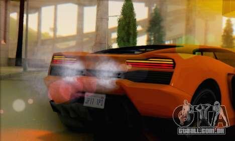 Pegassi Vacca (IVF) para GTA San Andreas traseira esquerda vista