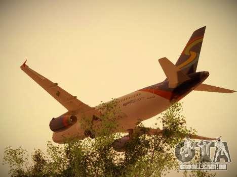 Airbus A319-132 Spirit Airlines para GTA San Andreas vista traseira