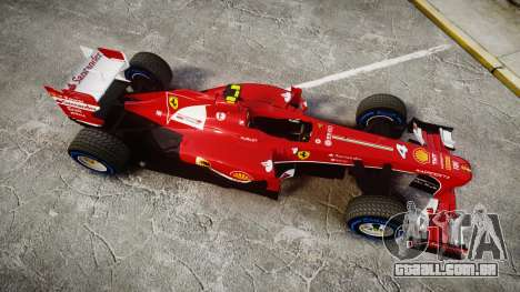 Ferrari F138 v2.0 [RIV] Massa TFW para GTA 4 vista direita