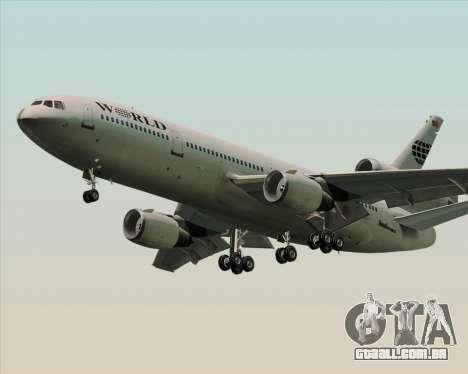 McDonnell Douglas DC-10-30 World Airways para GTA San Andreas vista direita