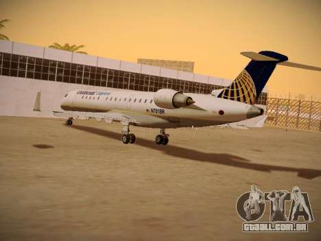 Bombardier CRJ-700 Continental Express para GTA San Andreas vista interior