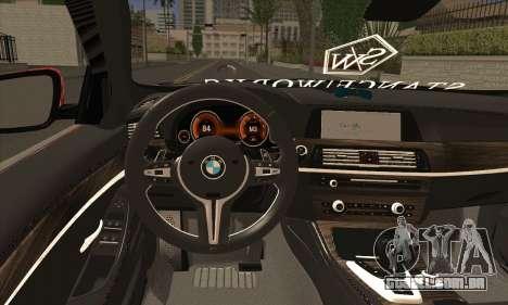 BMW 535i F10 Stance Works para GTA San Andreas traseira esquerda vista