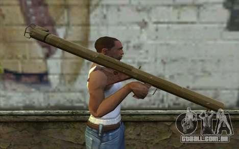 M1 Bazuca do Dia da Derrota para GTA San Andreas terceira tela