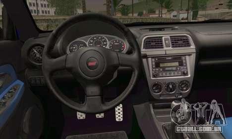 Subaru Impreza para GTA San Andreas traseira esquerda vista