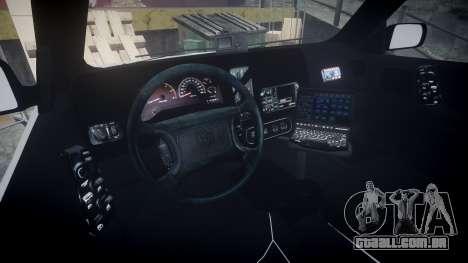 Dodge Durango 2000 Undercover [ELS] para GTA 4 vista de volta