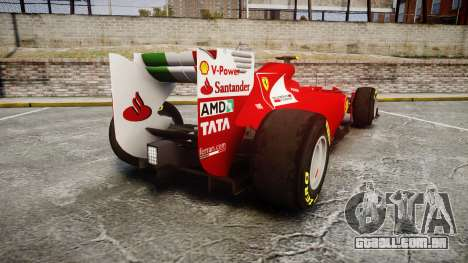Ferrari 150 Italia Massa para GTA 4 traseira esquerda vista