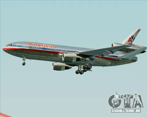 McDonnell Douglas DC-10-30 American Airlines para vista lateral GTA San Andreas