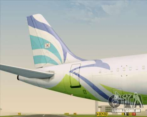 Airbus A321-200 Air Busan para o motor de GTA San Andreas