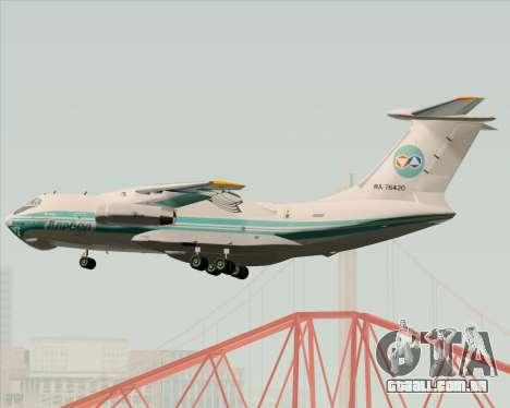 IL-76TD ALROSA para vista lateral GTA San Andreas