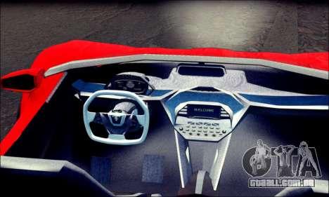 Specter Roadster 2013 (SA Plate) para GTA San Andreas traseira esquerda vista