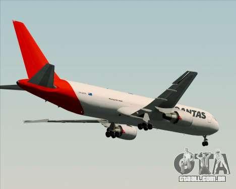 Boeing 767-300F Qantas Freight para GTA San Andreas vista traseira