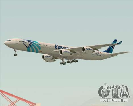 Airbus A340-600 EgyptAir para as rodas de GTA San Andreas