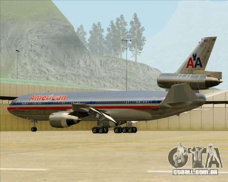 McDonnell Douglas DC-10-30 American Airlines para as rodas de GTA San Andreas