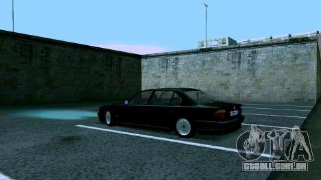 BMW 750iL para GTA San Andreas vista traseira