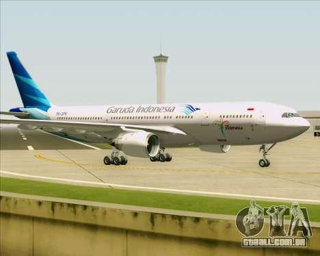 Airbus A330-243 Garuda Indonesia para GTA San Andreas vista traseira
