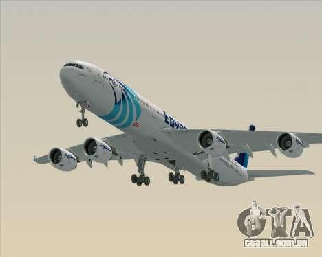 Airbus A340-600 EgyptAir para o motor de GTA San Andreas