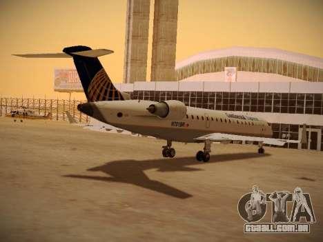Bombardier CRJ-700 Continental Express para vista lateral GTA San Andreas