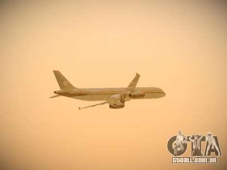 Airbus A321-232 Royal Jordanian Airlines para GTA San Andreas vista inferior