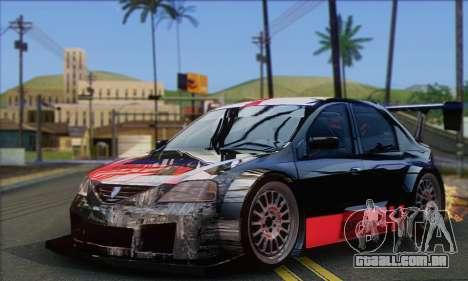 Dacia Logan Trophy Edition 2005 para GTA San Andreas vista traseira