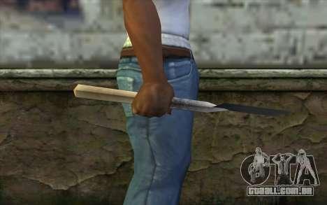 Alemão pá para GTA San Andreas terceira tela