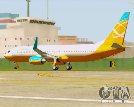 Boeing 737-800 Orbit Airlines para GTA San Andreas vista superior