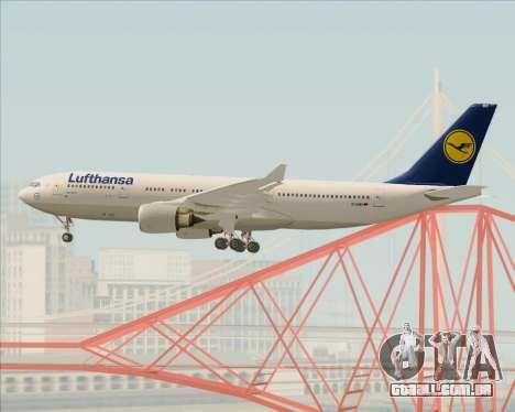 Airbus A330-200 Lufthansa para GTA San Andreas vista inferior