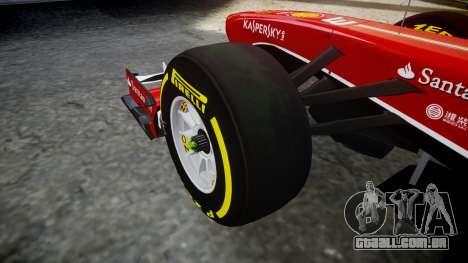 Ferrari F138 v2.0 [RIV] Alonso TSD para GTA 4 vista de volta