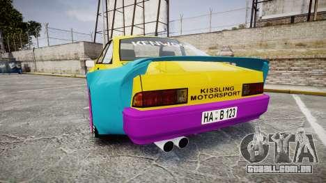Opel Manta B GTE para GTA 4 traseira esquerda vista