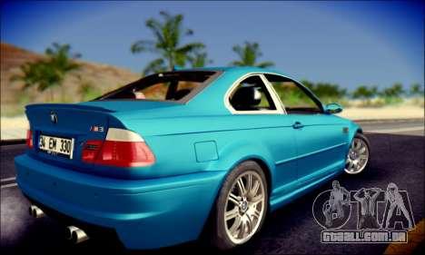 BMW M3 E46 para GTA San Andreas esquerda vista