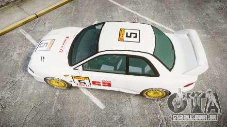 Subaru Impreza WRC 1998 SA Competio para GTA 4 vista direita