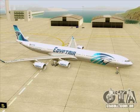 Airbus A340-600 EgyptAir para GTA San Andreas vista inferior