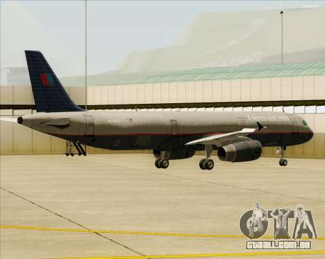 Airbus A321-200 United Airlines para as rodas de GTA San Andreas