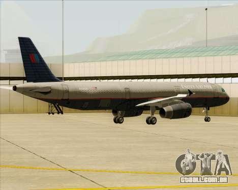 Airbus A321-200 United Airlines para as rodas de GTA San Andreas