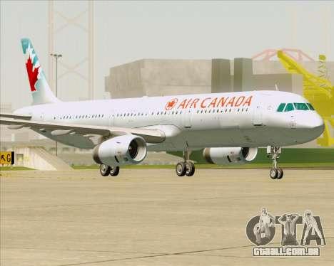 Airbus A321-200 Air Canada para GTA San Andreas vista inferior