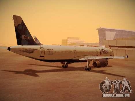 Airbus A321-232 jetBlue La vie en Blue para GTA San Andreas vista direita