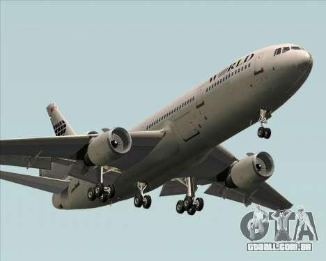 McDonnell Douglas DC-10-30 World Airways para GTA San Andreas vista interior