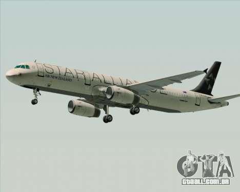 Airbus A321-200 Air New Zealand (Star Alliance) para GTA San Andreas traseira esquerda vista