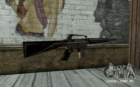 M16 from Beta Version para GTA San Andreas segunda tela