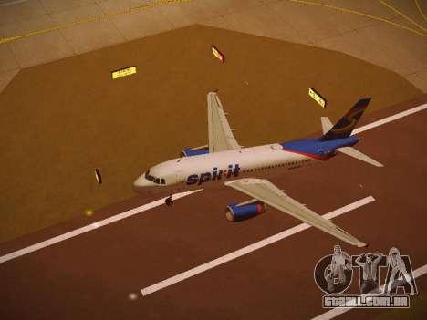 Airbus A319-132 Spirit Airlines para GTA San Andreas interior