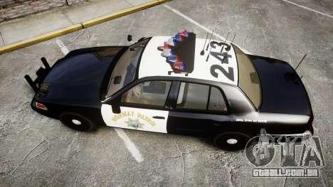 Ford Crown Victoria CHP CVPI Vision [ELS] para GTA 4 vista direita
