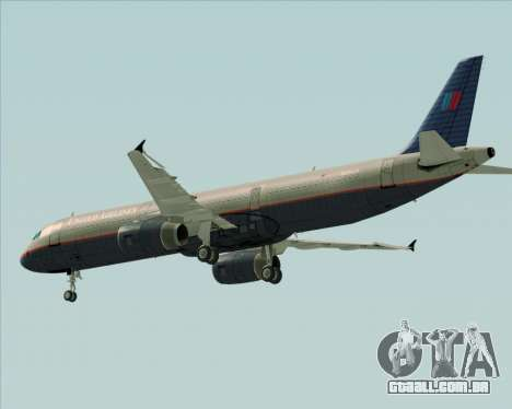 Airbus A321-200 United Airlines para GTA San Andreas vista inferior