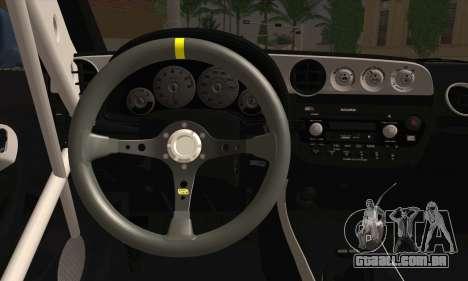 Honda Integra DC5 Stance para GTA San Andreas traseira esquerda vista