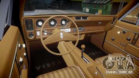 Oldsmobile Vista Cruiser 1972 Rims1 Tree2 para GTA 4 vista de volta