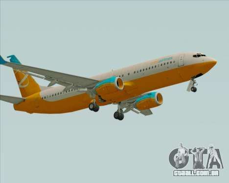 Boeing 737-800 Orbit Airlines para GTA San Andreas esquerda vista