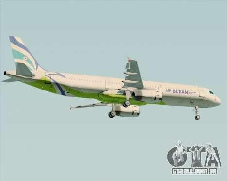 Airbus A321-200 Air Busan para GTA San Andreas vista direita
