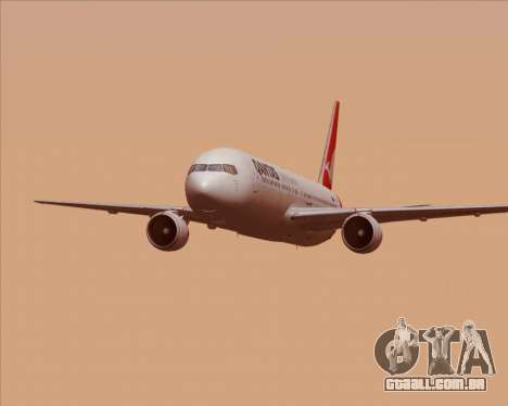 Boeing 767-300ER Qantas (New Colors) para GTA San Andreas interior