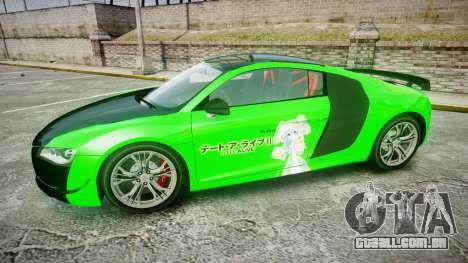 Audi R8 GT Coupe 2011 Yoshino para GTA 4 esquerda vista