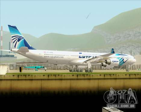 Airbus A340-600 EgyptAir para GTA San Andreas vista superior